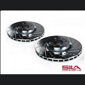 FIAT 500 Brake Rotors by SILA Concepts - Performance - Rear - Black