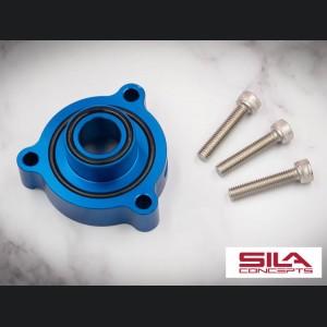 Alfa Romeo Stelvio 2.0L Blow Off Adapter Plate - SILA Concepts - Blue